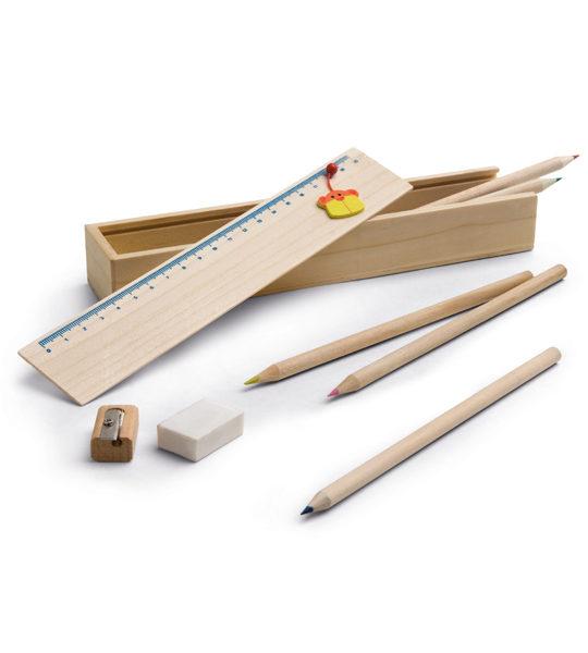 set in legno per colorare ecologico
