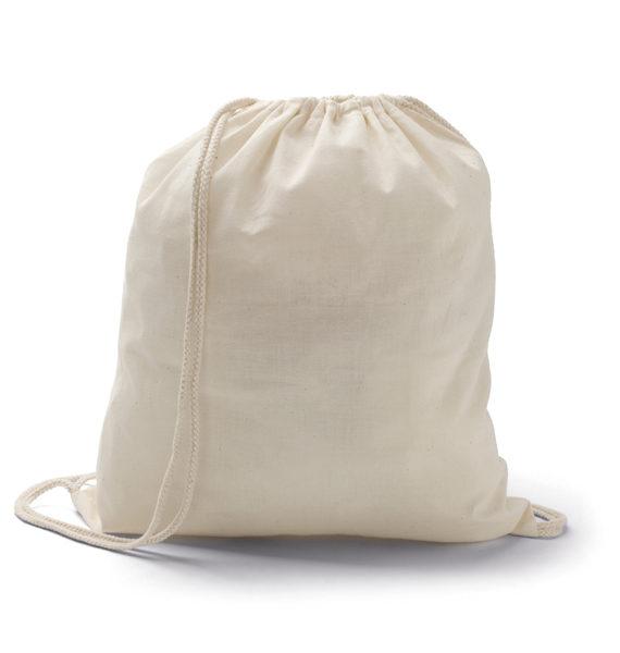 zaino sacca in cotone ecologico