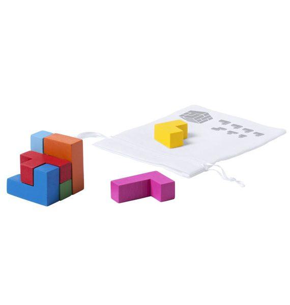cubo colorato in legno puzzle