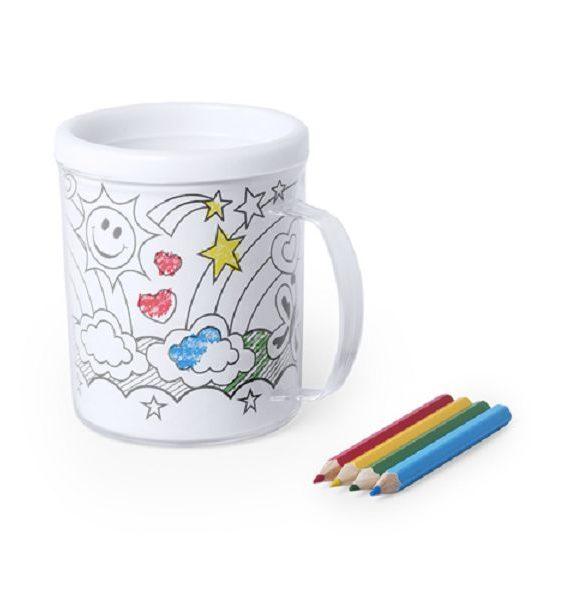 bicchiere per bambini da colorare