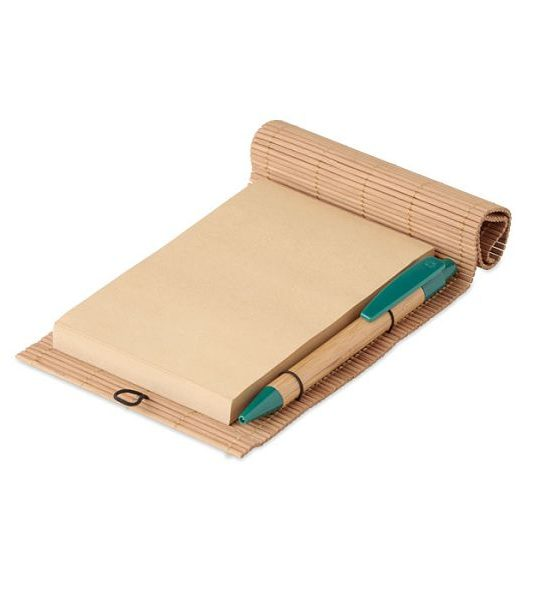blocco note in bamboo