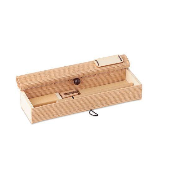 set scrittura in bamboo