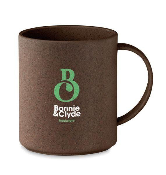 tazza ecologica in buccia di caffè