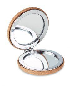 specchietto da borsa in sughero