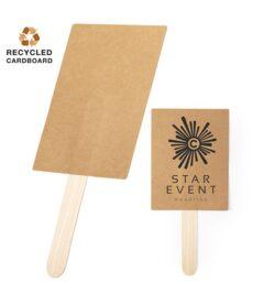 ventaglio ecologico in legno e cartone riciclato