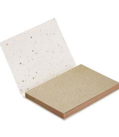 blocco memo con copertina con semi